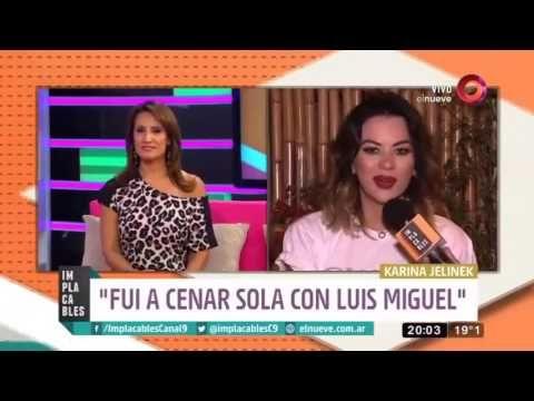 ¿Qué pasa entre Karina Jelinek y Luis Miguel?