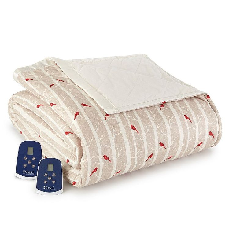 Micro Flannel® Electric Heating Blanket, Red