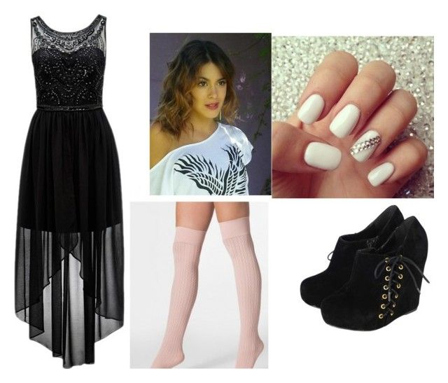 """""""Martina Stoessel"""" by iammeiamfreeee ❤ liked on Polyvore featuring American Apparel and Forever New"""
