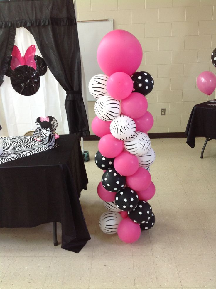 17 best images about sample balloon decors on pinterest for Baby minnie decoration
