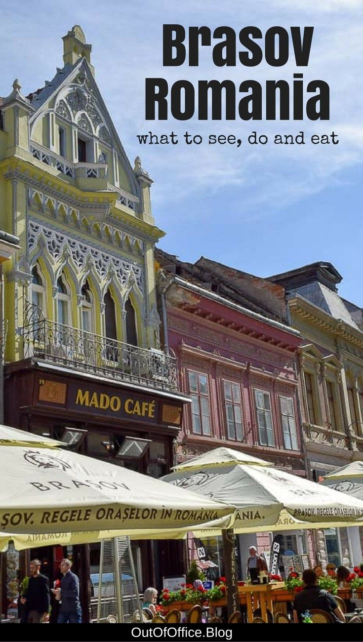 Brasov Romania is a popular Transylvanian tourist destination with cobblestone streets, colorful baroque buildings and packed with outdoor cafes.#brasov #romania #travel