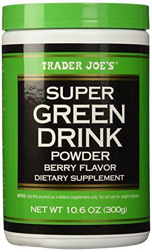 Trader Joe's Super Green Drink Powder Antioxidant Dietary Supplement, Berry Flavor, 10.6oz (300g) - http://darrenblogs.com/2015/12/trader-joes-super-green-drink-powder-antioxidant-dietary-supplement-berry-flavor-10-6oz-300g/
