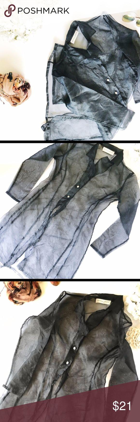 Vintage Donna Ricco Sheer Trench Blouse Vintage Donna Ricco Sheer Trench Blouse L:36 w:14 Donna Ricco Jackets & Coats