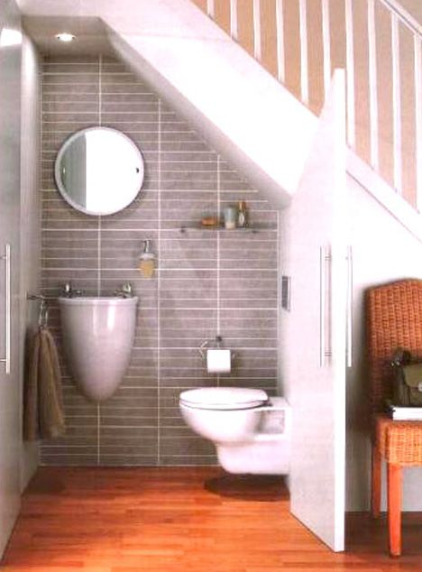 PERFECT! This is exactly what I want for my entrance hall-a convenient, small water closet- enough loo for the ground floor, and not a bit of space wasted. Love Love Love.