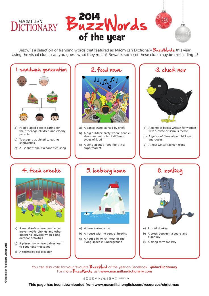Macmillan dictionary christmas quiz by Majorick via slideshare