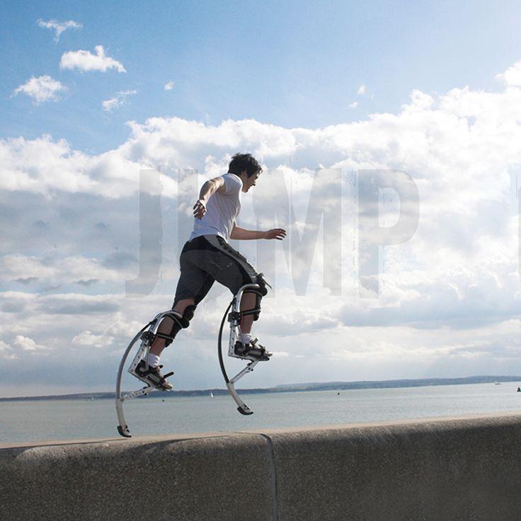 Black Jumping Stilts Bouncing Shoes Adult (155~200 lbs/70~90kg) Men Women Fitness Exercise