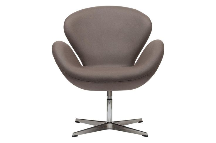 Кресло Swan Chair Grey-Brown, –  модель выполнена на ножке из нержавеющей стали, с подлокотниками, покрыта тканью серо-коричневого    цвета, наполнитель мебельный поролон.   Удобный, красивый, качественный аксессуар  для современного стиля гостиной.             Метки: Кресла для дома.              Материал: Металл, Ткань, Пластик.              Бренд: DG Home.              Стили: Лофт, Скандинавский и минимализм.              Цвета: Серый.