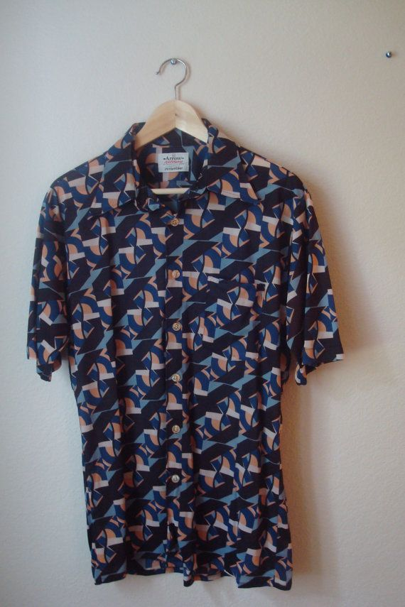 Vintage Mens Short Sleeve Shirt // Arrow by BeastVintage on Etsy, $10.00