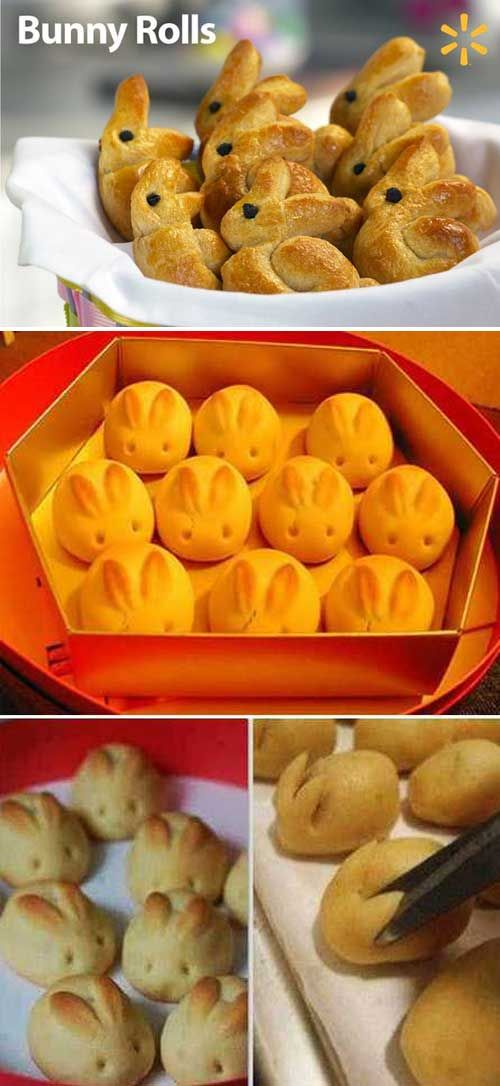12. Easter dinner wouldn't be complete without …Bunny Rolls of course. Top 27 Cute and Money Saving DIY Crafts to Welcome The Easter