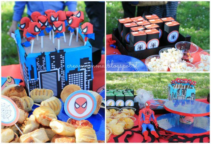 Festa di compleanno di Spiderman al parco