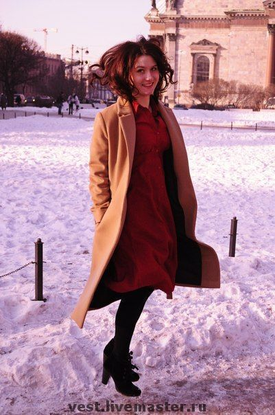 Купить Красное платье-рубашка - красное платье, платье, авторское платье, повседневное платье, Питер