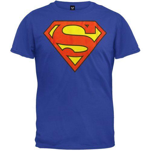 Superman - Mens Shield Logo T-Shirt Superman, DC Comics, Trevco http://www.amazon.com/dp/B00GMJ0HF6/ref=cm_sw_r_pi_dp_euHQtb1RY17PJ6KN