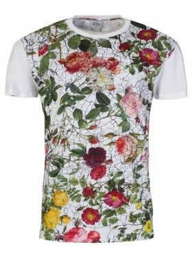 Vivienne Westwood White Cracked Rose Graphic T-Shirt
