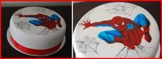 tarta-spiderman-pintado-a-mano_PintandoUnaMama
