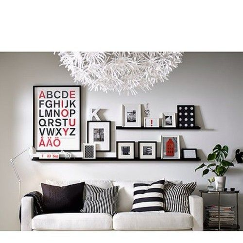 1 Long 2 Short Ikea Ribba Ledge Picture Photo Display
