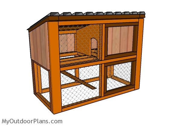 320 best images about planter on pinterest ana white for Wooden rabbit hutch plans
