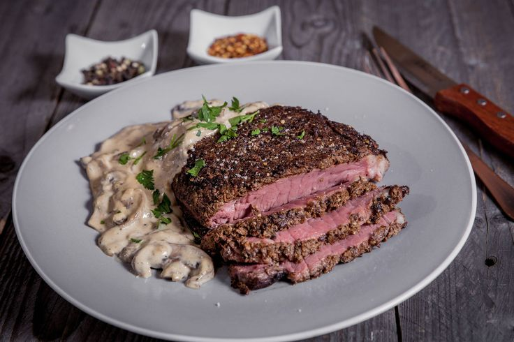 Porcini and peppercorn crusted rump steak - Make delicious beef recipes easy, for any occasion