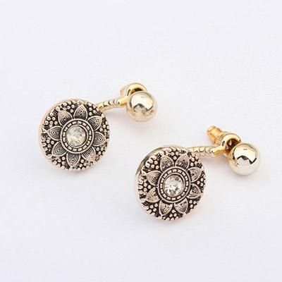 podotukushop_0A5BE5 Anting Korea anting impor flower pattern decorated simple design