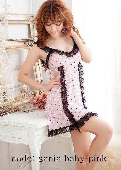 Kode Barang: Sania Pink price: Rp.110.000 bahan: katun poliester satu set : lingerie + G-string detail: * bahan molor * tembus pandang * comfy, tipis, adem dipake * muat sampai size L