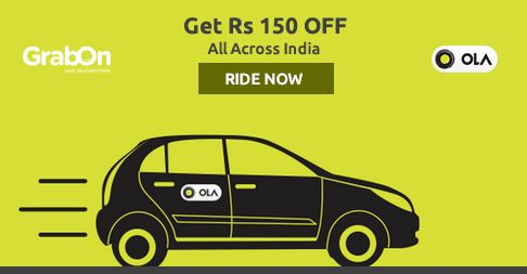 "Say ""Hola"" To ""Ola"" - #Olacabs Offers Rs. 150 OFF On First Ride. http://www.grabon.in/olacabs-coupons/ … #SaveOnGrabOn"