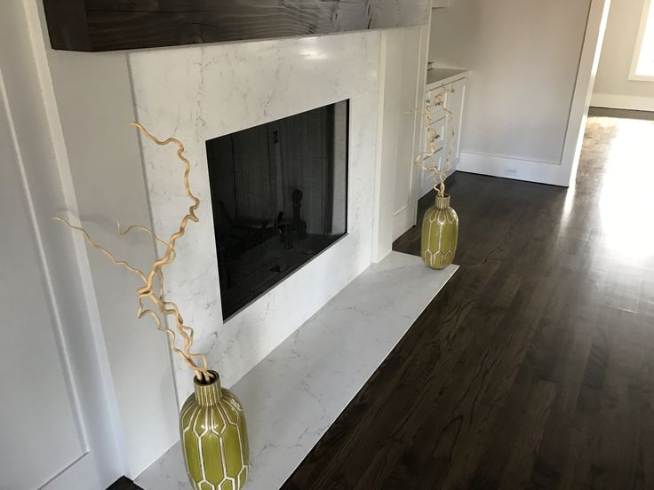 Farmhouse Dining Room Fireplace