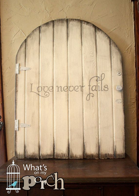 Wood Gate Door Love Never Fails Vintage Barn Board