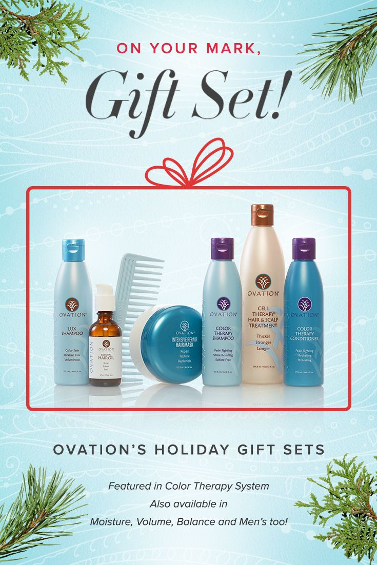 It's time to gear up for the holidays! The 2017 Ovation Hair Holiday Gift Sets are here. We are offering 5 different systems depending on hair type & condition and including a men's system – making it easy to find the perfect present for anyone.