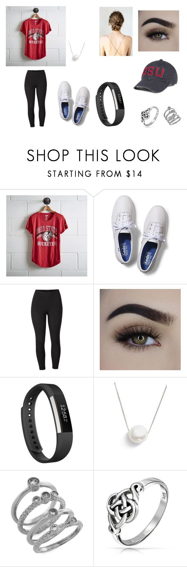 """""""First Ohio State game on Thursday!!"""" by sarapotter98 on Polyvore featuring Tailgate, Keds, Venus, Fitbit, Chan Luu, Cole Haan, Bling Jewelry, J. America and plus size clothing"""