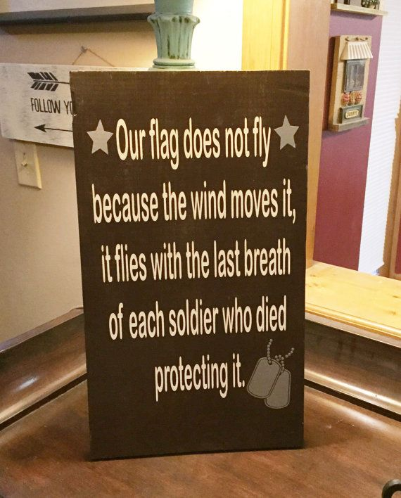 ON SALE distressed military sign  our flag does not fly