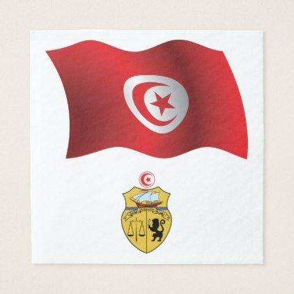 Tunisia Flag Paper Napkins - kitchen gifts diy ideas decor special unique individual customized