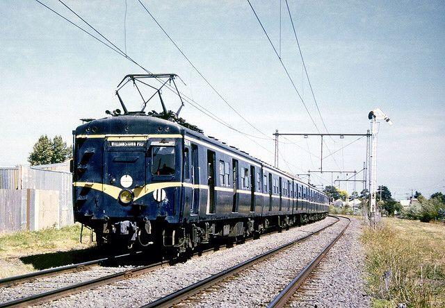 Harris or Blue Train (1956-88) Melbourne. Full of asbestos, these trains were wrapped in plastic and dumped in landfill in Clayton.