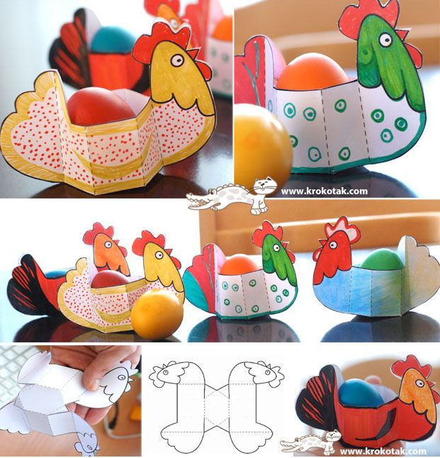 paper Easter HENS + template ... I am loving this craft idea :)