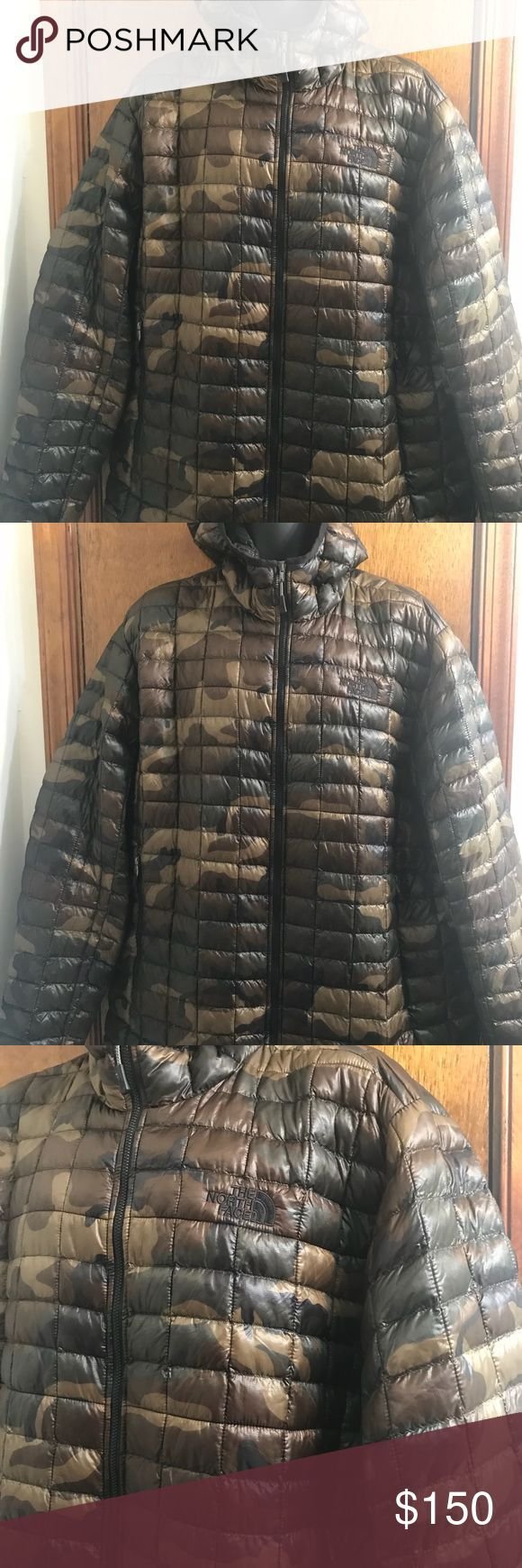 """THE NORTH FACE Thermoball jacket camo Size xxl 2xl THE NORTH FACE FALL WINTER COAT CAMO JACKET THERMOBALL MEN'S SIZE 2XL XXL $199 New without tags 100% nylon  Pit to pit 27"""" Sleeves 27"""" Length 31"""" The North Face Jackets & Coats"""