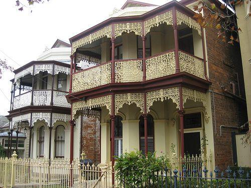 Sister Victorian Terrace Houses - Flemington #architecture #australianhomes