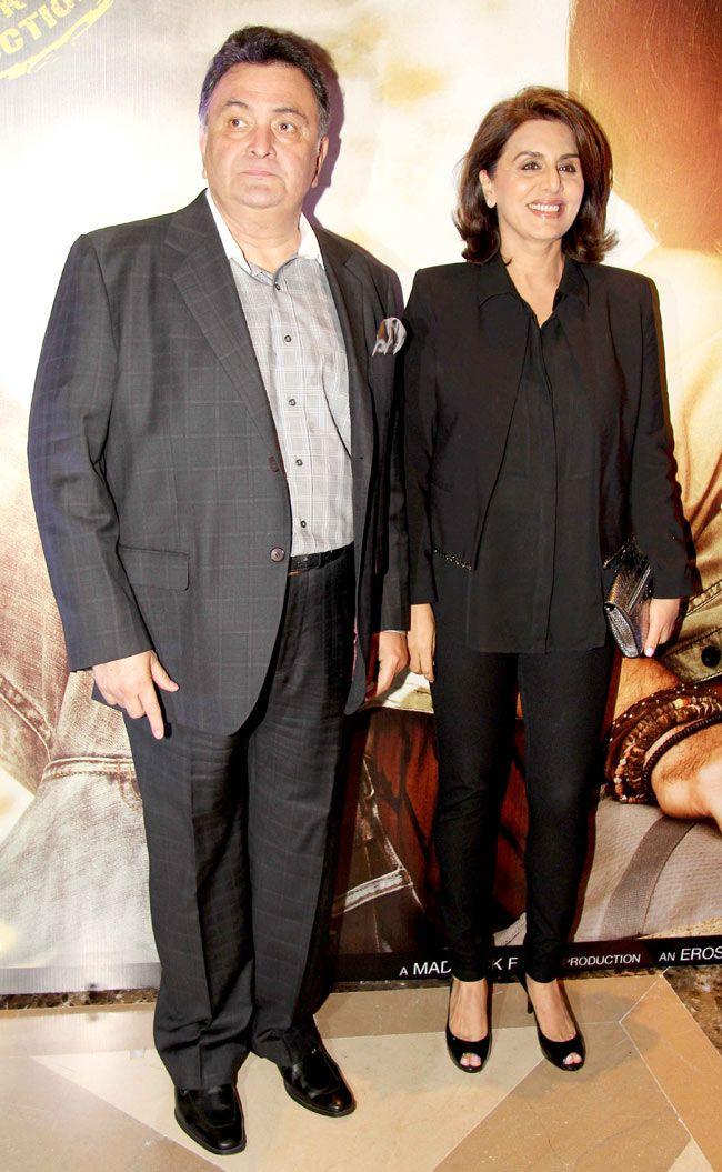 Rishi Kapoor and Neetu Singh at the music launch of 'Lekar Hum Deewana Dil'.