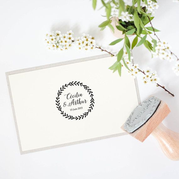 Tampon mariage Tampon Couronne Tampon par BloominiStudio sur Etsy