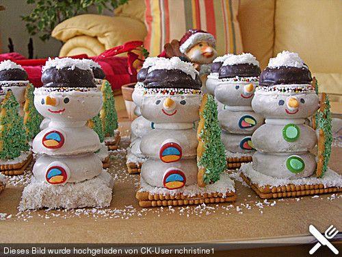 Schneemänner, ein tolles Rezept aus der Kategorie Weihnachten. Bewertungen: 48. Durchschnitt: Ø 4,5.