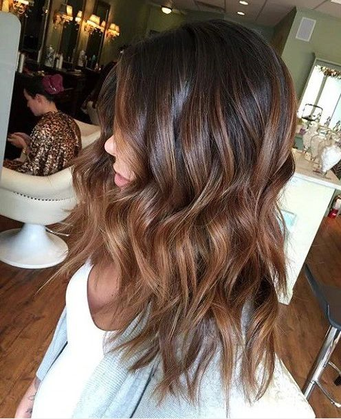 warm chocolate brown ombre