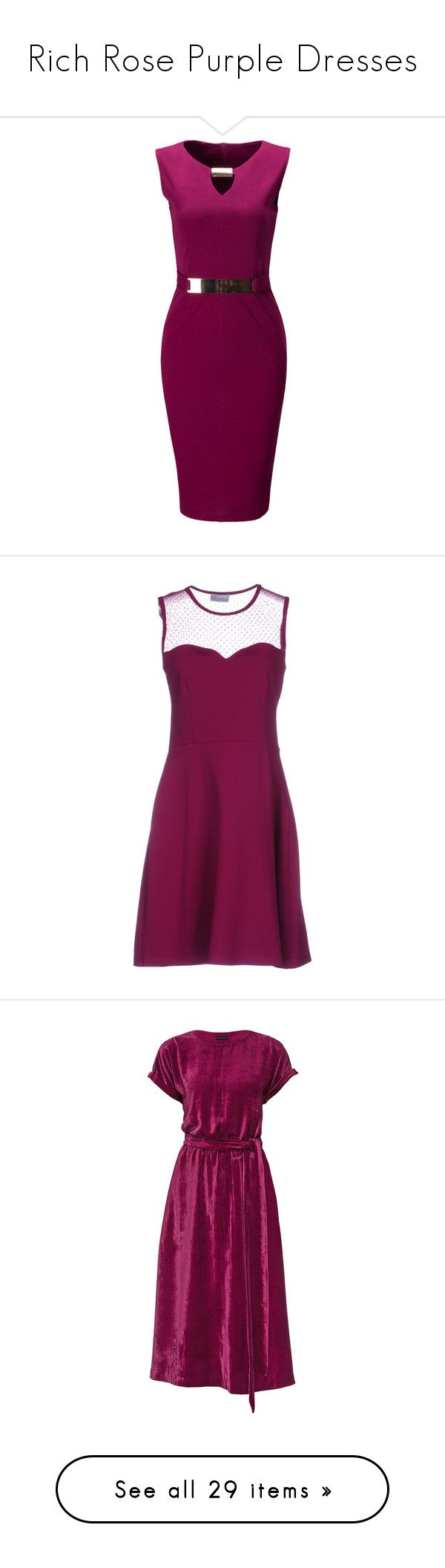"""""""Rich Rose Purple Dresses"""" by tegan-b-riley on Polyvore featuring dresses, short dresses, embellished mini dress, embellished short dress, bodycon cocktail dresses, embellished dress, purple dresses, mauve, rayon dress and sleeveless dress"""