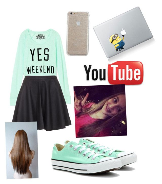 """Kaelyn from seven super girls"" by annacarlina ❤ liked on Polyvore featuring Victoria's Secret PINK, Joie, Converse and Case-Mate"