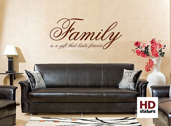 family is vinyl wall sticker quote