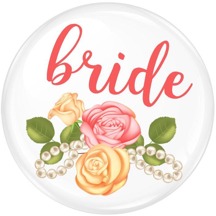 Bride Roses Badge