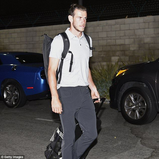 Gareth Bale was among the Real Madrid stars who arrived in Los Angeles for pre-season tour