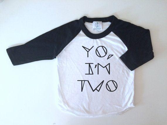 YO je suis deux deuxième anniversaire chemise deux par SandiLake