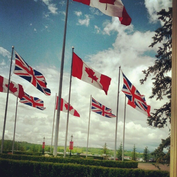 The Canadian & British Flags at Spruce Meadows