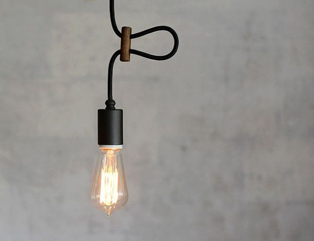 レプリカ灯 ブラック 電球照明 インテリア ナチュラル 照明