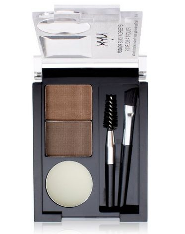 Everything you need for perfectly set brows: two brushes (angled and spoolie), clear wax, and coordinating brow powders. $6 here.