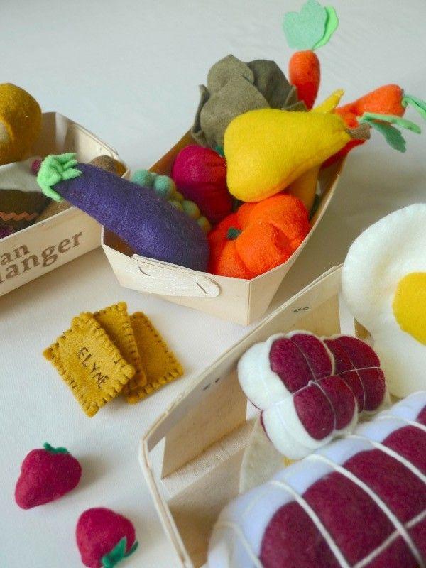 feutrine enfant aliments marché www.grenierdidees.fr