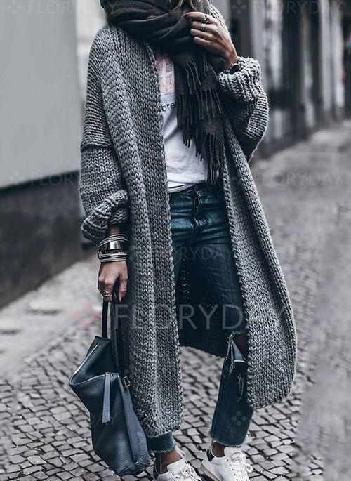 Coats – $45.99 – Polyester Long Sleeve Coats (1715200856)