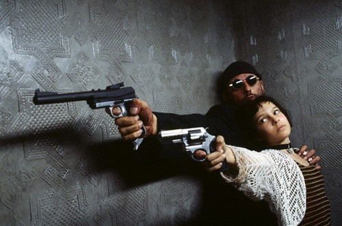 "Jean Reno, Natalie Portman in ""The Professional"" (1994; a.k.a. ""Léon: The Professional"", dir. Luc Besson)"